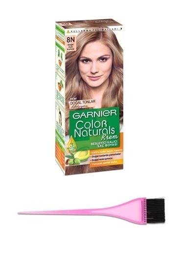 Garnier Garnier Color Naturals Saç Boyası Doğal Açık Kumral Kadın 8N + Boya Fırçası Renksiz